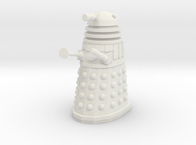 Imperial Dalek - Pose 3 in White Strong & Flexible