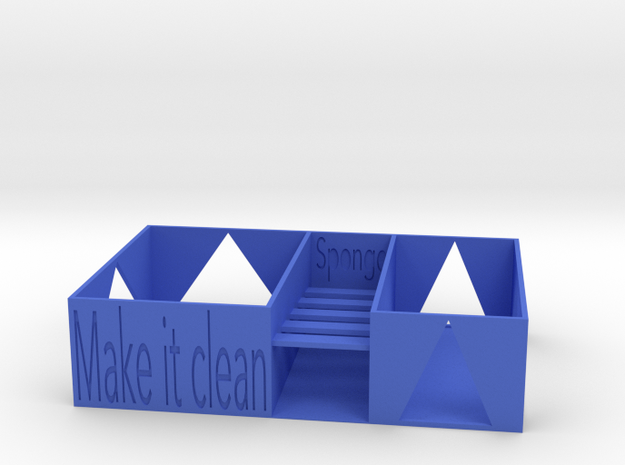 Kitchen washing support in Blue Processed Versatile Plastic