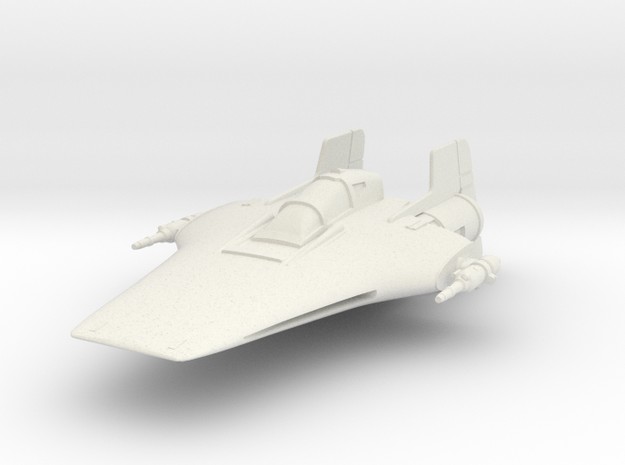 R22 Spearhead A-Wing in White Natural Versatile Plastic