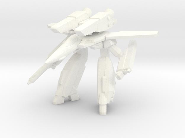 VF- 1 GERWALK 1/350 in White Processed Versatile Plastic: 1:350