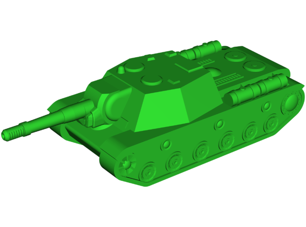 SU-152 Zveroboi Assault Gun in White Natural Versatile Plastic: Small