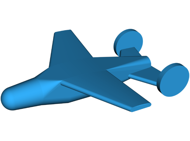 ASM-N-2 Bat [SWOD Mark 9] Guided Bomb in White Strong & Flexible: Small