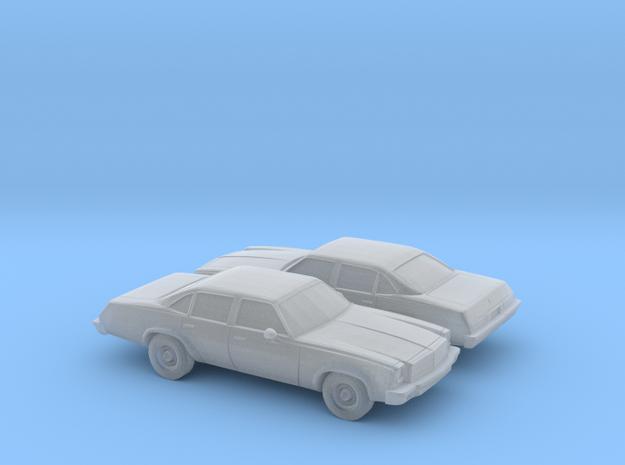 1/160 2X 1975 Chevrolet Chevelle Sedan in Smooth Fine Detail Plastic