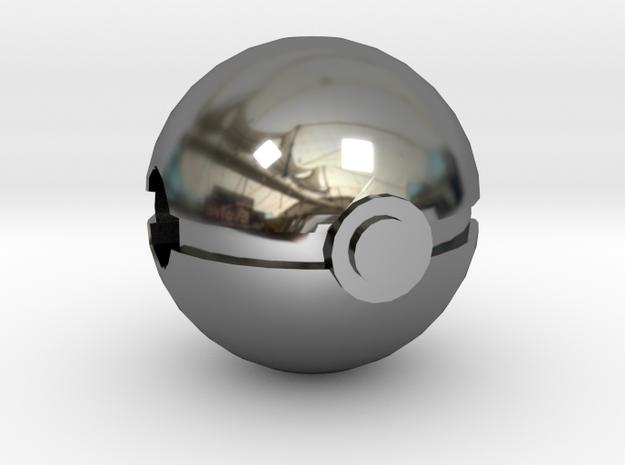 Pokeball Charm in Premium Silver