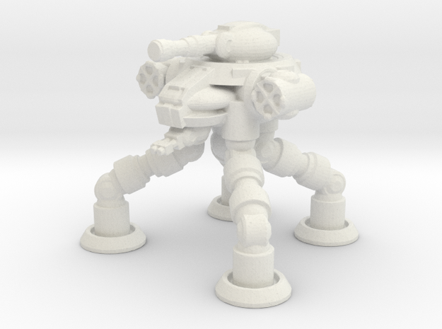 Four Leged Combat Walker in White Natural Versatile Plastic
