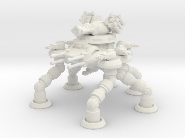 Six Leged Bastion Mech in White Natural Versatile Plastic