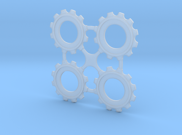 Rotor Hubs in Frosted Extreme Detail