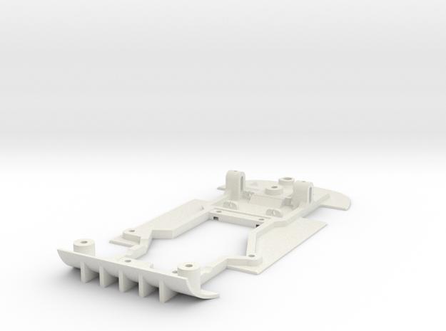 Chassis for NSR Mosler for (Slot.It motor pod) in White Natural Versatile Plastic