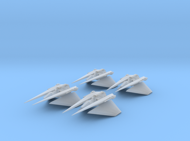 Narn Toreth Gunboat 4 Pack Full Thrust Scale in Smooth Fine Detail Plastic