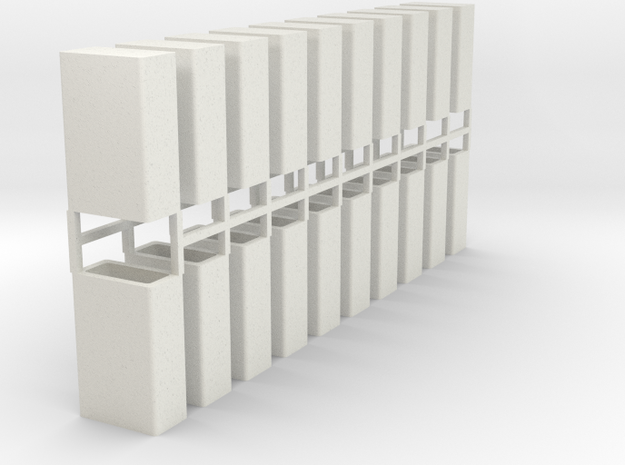 Stahlbrammen stehend 20er Set - 1:120 in White Natural Versatile Plastic
