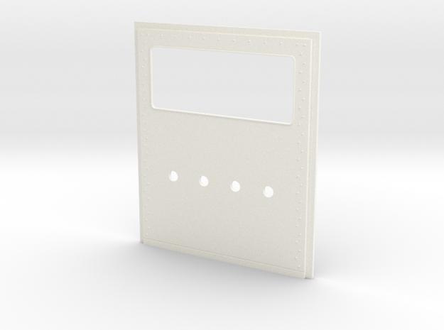 King Hauler Daycab Panel, Large Window, 4 Lights in White Processed Versatile Plastic
