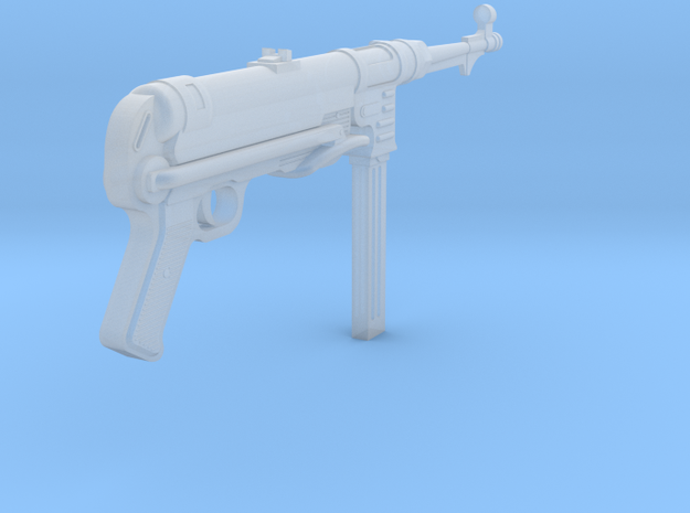 MP40 (folded) (1:18 scale) in Frosted Ultra Detail: 1:18
