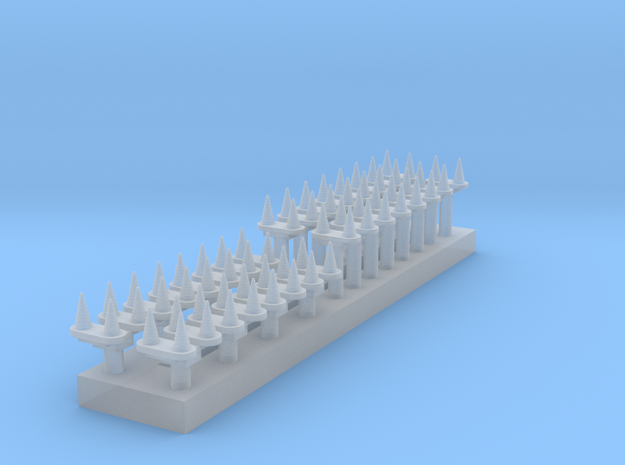 1:350 Scale Phasor 90 Antennas in Smoothest Fine Detail Plastic