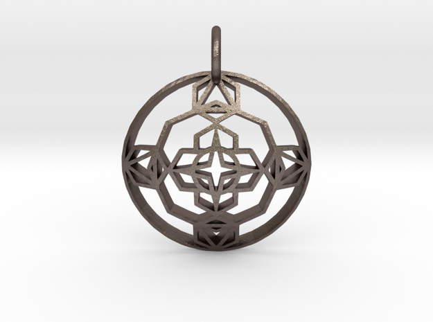 Seal Of Evolution (Domed) in Polished Bronzed Silver Steel