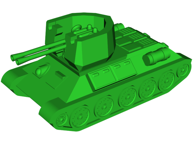 Type 63 [37mm] SPAAG in White Strong & Flexible: Small