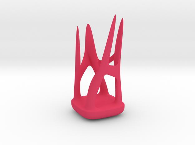 Organic holder  in Pink Processed Versatile Plastic