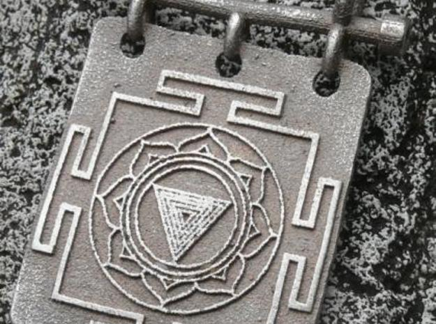 Kali Yantra Pendant in Stainless Steel