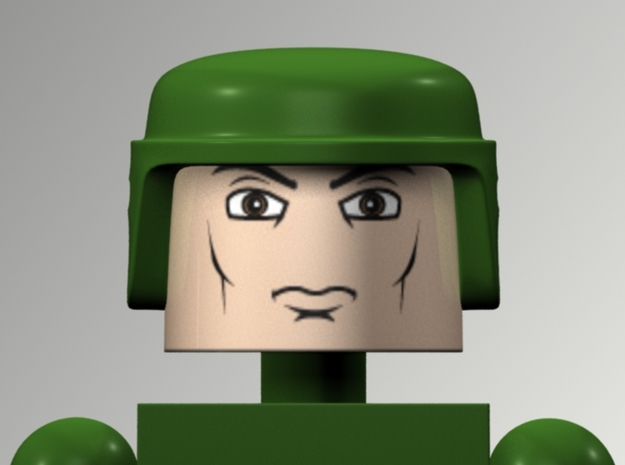 GI Joe Helmet For Minimates in White Processed Versatile Plastic
