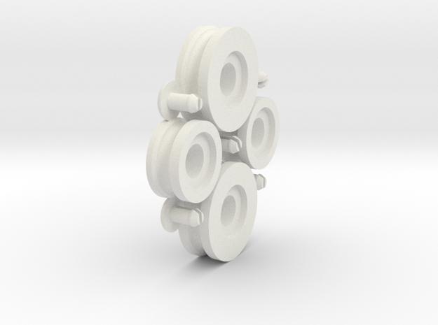 steelcase tanker desk roller set in White Natural Versatile Plastic