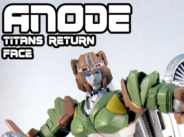 Anode Face (Titans Return)  in Smooth Fine Detail Plastic