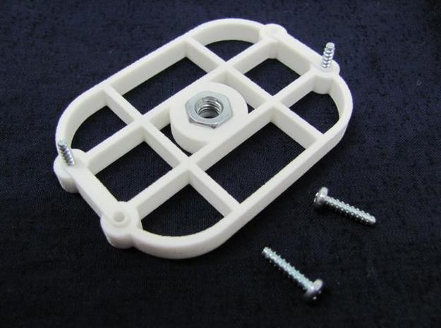 TriK Tripod Adapter 3d printed White Strong & Flexible