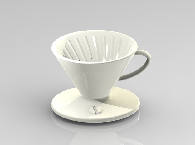 Coffee dripper in Gloss White Porcelain
