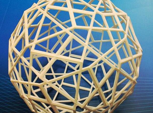 icosidodecahedron in White Natural Versatile Plastic
