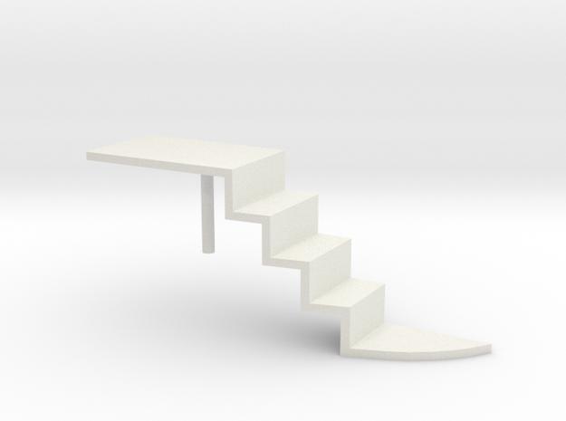 Futurliner Stairs 1/25 in White Natural Versatile Plastic
