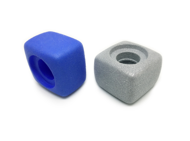 Fidget Cube Spinner - Solid in Blue Strong & Flexible Polished