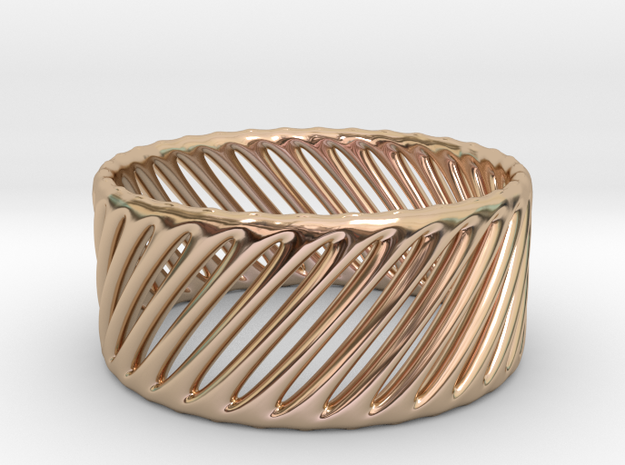 TIS_ring_CYLINDER_05a in 14k Rose Gold Plated