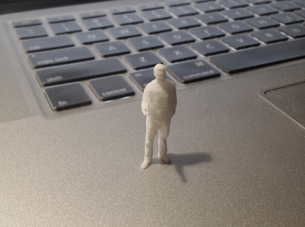 Architectural Man - 1:50 - Presenting  3d printed White Strong & Flexible
