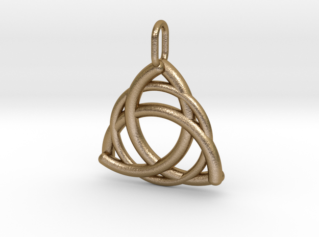 Triquetra in Polished Gold Steel