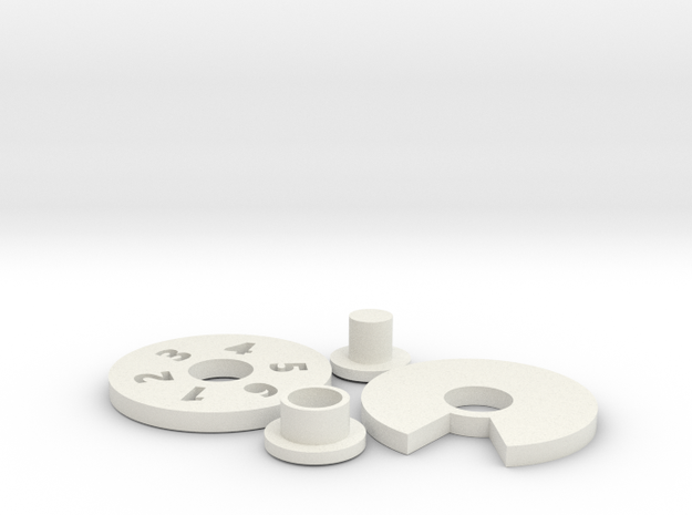 Wound Tracker 6  in White Strong & Flexible