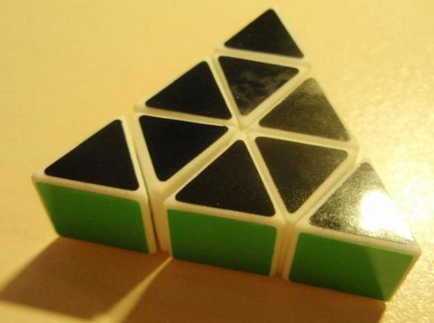 Slim Pyraminx in White Strong & Flexible