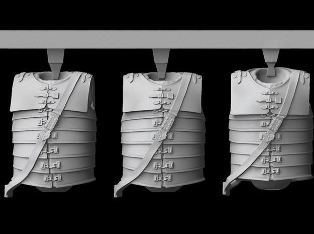 1/25 scale Roman Legionary body armour (3) in Smooth Fine Detail Plastic