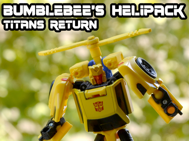 Bumblebee's Helipack (Titans Return) in Yellow Strong & Flexible Polished