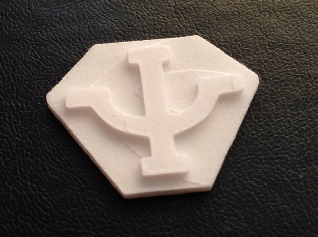 Psi Corp Badge (3:4) 3d printed