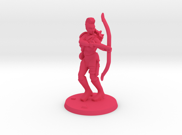 Jasmin Raider Archer NSFW in Pink Processed Versatile Plastic