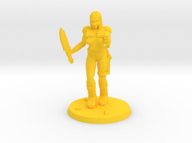 Jasmin Raider NSFW in Yellow Processed Versatile Plastic
