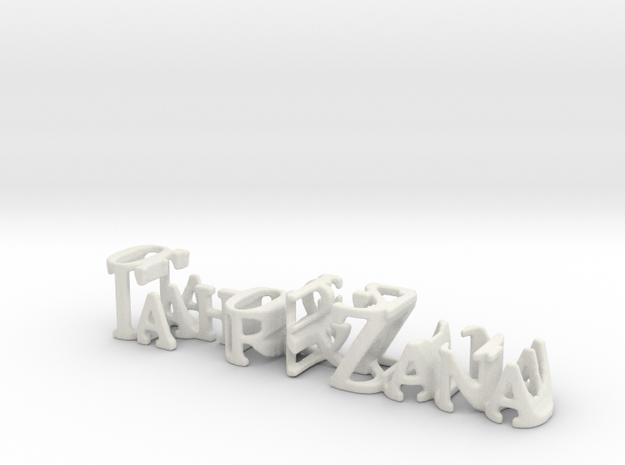 3dWordFlip: Tahir & Zana/05-04-2009 in White Natural Versatile Plastic