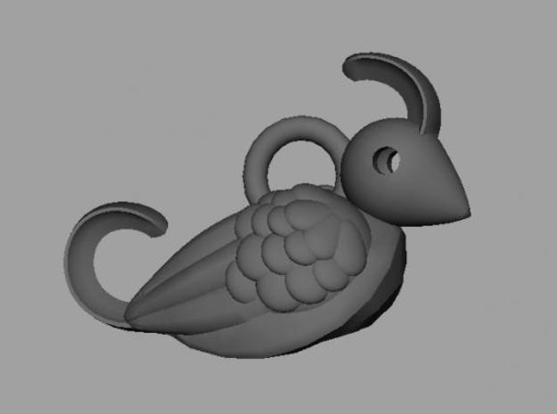 Bird earring again 3d printed Description