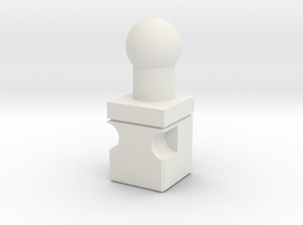 Titans Return to 4mm neck adaptor in White Natural Versatile Plastic