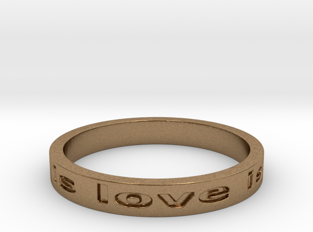 love is all you need Ring 8.25 in Raw Brass