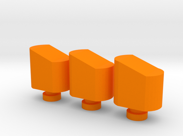 Airsoft Magazine Feeder Head (3-Pack) in Orange Processed Versatile Plastic