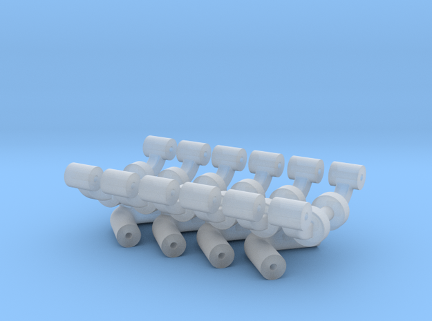 Squad 51 rail supports in Smooth Fine Detail Plastic