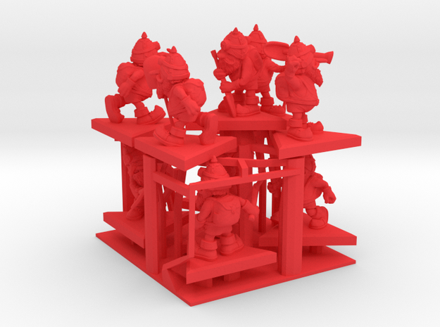SHAFTED: Resplendent Red Gnomes Plastic in Red Processed Versatile Plastic