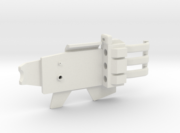 ESB FT Back Plate & Wire Assembly in White Natural Versatile Plastic