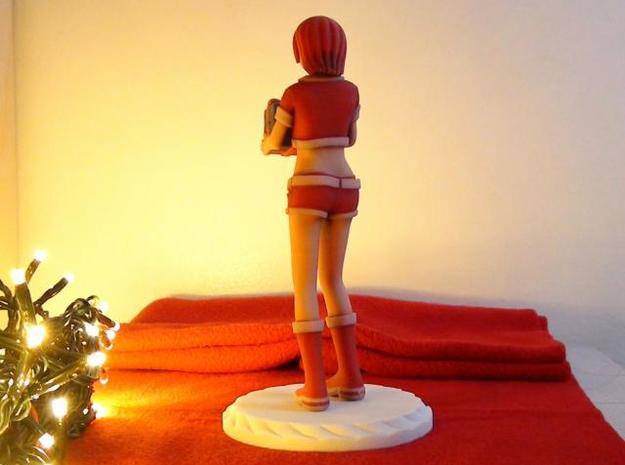 """Santa Girl"" Figure (Full Color) 3d printed Picture Back"