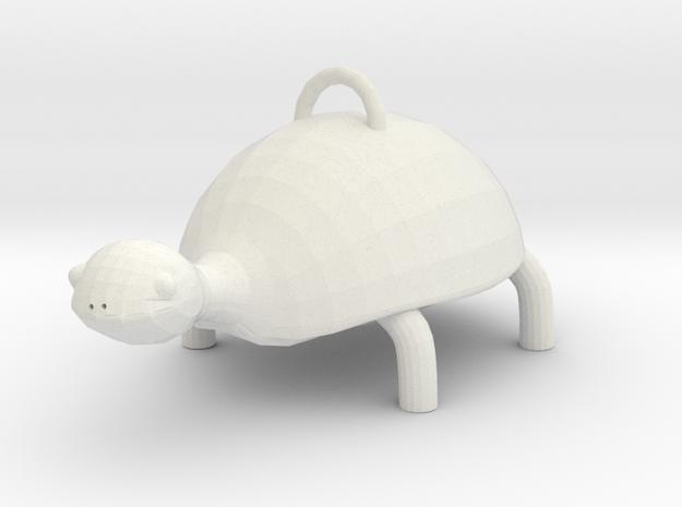Turtle  in White Natural Versatile Plastic: Small