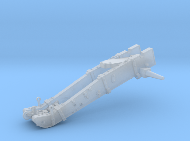 W01,1 12pdr Gun carriage in Smooth Fine Detail Plastic